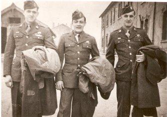 Taken in Suippes, France Charles J. Kaiser, Bill Gray, Raymond Cridland