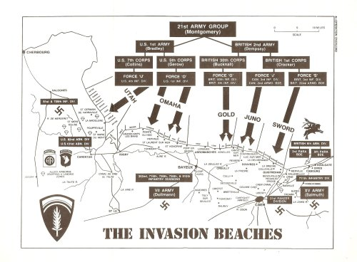Normandy Invasion Map